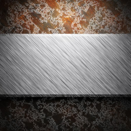 aluminum and rusty metal plate made in 3D Stock Photo - 7758249