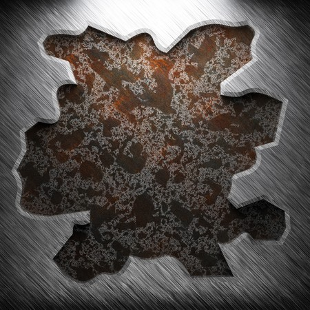 aluminum and rusty metal plate made in 3D Stock Photo - 7758234