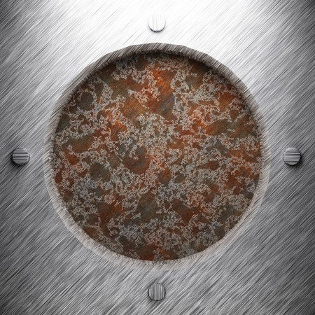 aluminum and rusty metal plate made in 3D Stock Photo - 7758256