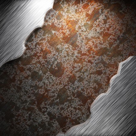 aluminum and rusty metal plate made in 3D Stock Photo - 7758257