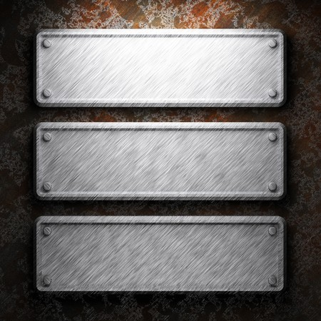 aluminum and rusty metal plate made in 3D Stock Photo - 7758247