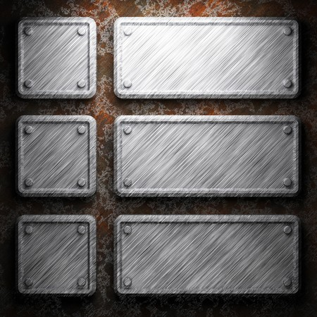 aluminum and rusty metal plate made in 3D Stock Photo - 7758254