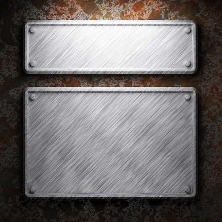 aluminum and rusty metal plate made in 3D Stock Photo - 7758253