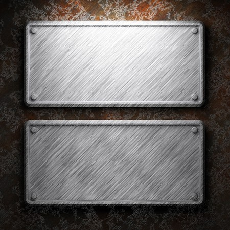 aluminum and rusty metal plate made in 3D Stock Photo - 7758248