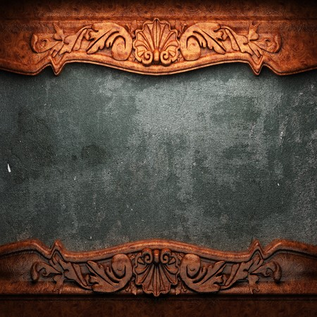 placa bacteriana: rojo placa de madera sobre hormig�n realizado en 3D