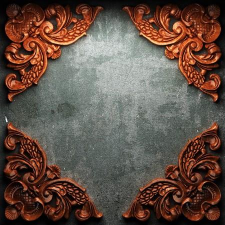 letreros: rojo placa de madera sobre hormig�n realizado en 3D