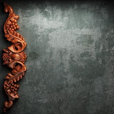 tack board: rojo placa de madera sobre hormig�n realizado en 3D