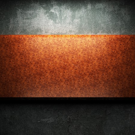red wood plate on concrete made in 3D Stock Photo - 7905000