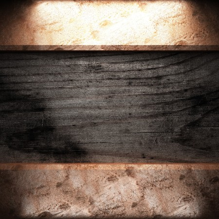 golden plate on wood made in 3D Stock Photo - 7905209
