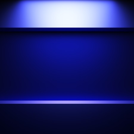 blue abstract plate made in 3D graphics Stock Photo - 7896435