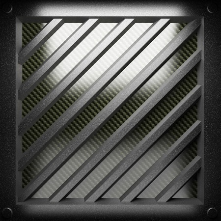 steel plate on carbon made in 3D Stock Photo - 7905244