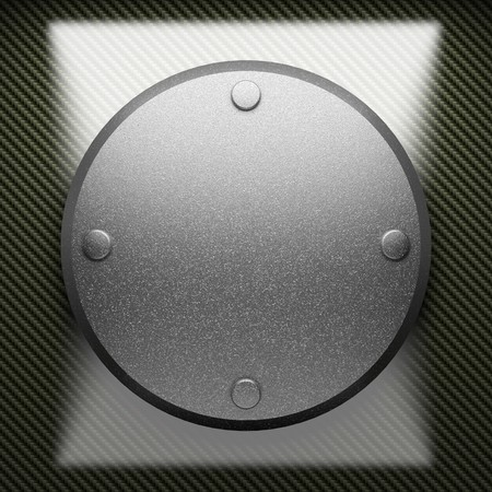 steel plate on carbon made in 3D Stock Photo - 7905245