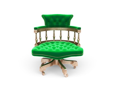 isolated classic velvet chair made in 3d photo