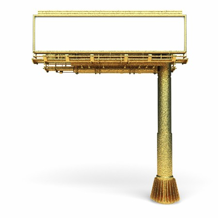 isolated golden Billboard made in 3d graphics photo