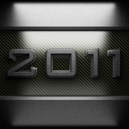 2011 steel plate on carbon made in 3D photo