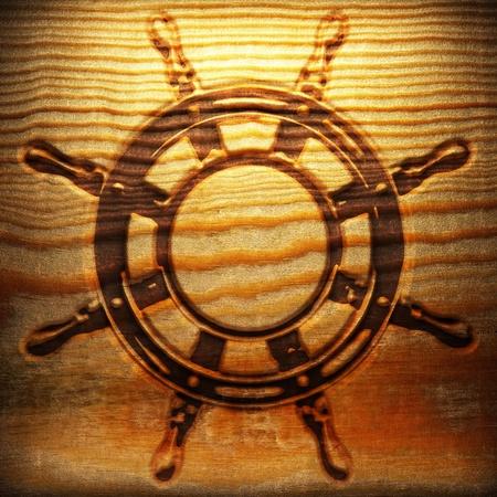 Retro wooden ornament  photo