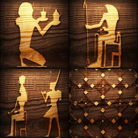 Retro wooden ornament Stock Photo - 8309162