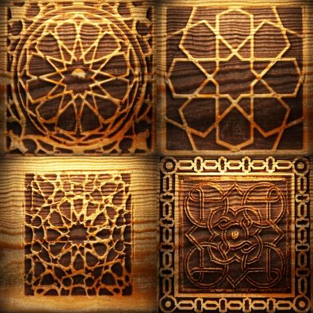 Retro wooden ornament Stock Photo - 8309166