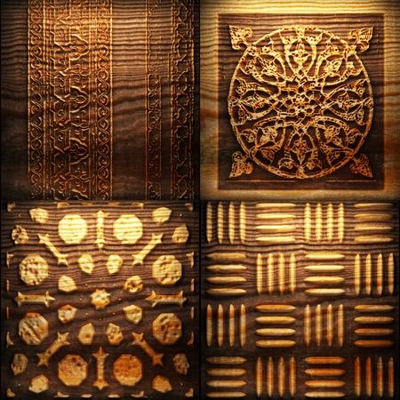 Retro wooden ornament Stock Photo - 8309163