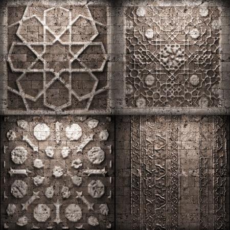 Retro stone ornament  photo