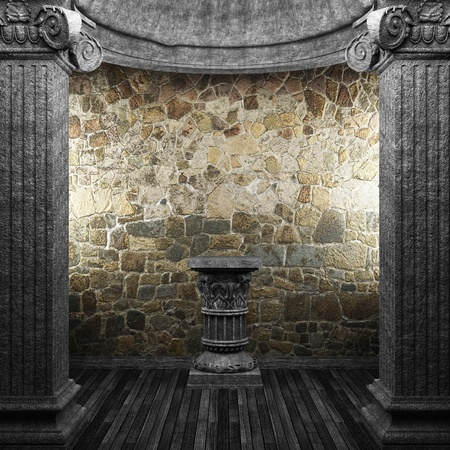 stone columns and pedestal made in 3D Stock Photo - 8435615