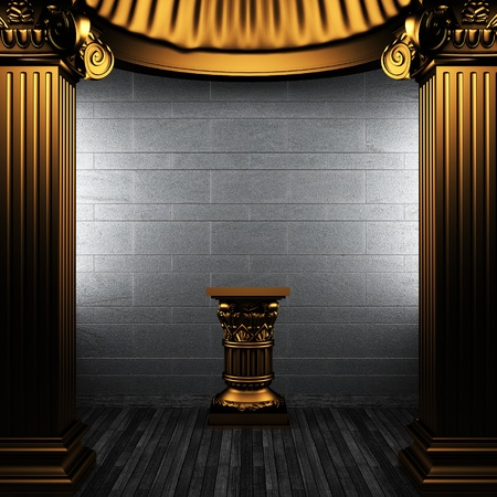 bronze columns and pedestal made in 3D Stock Photo - 8435459