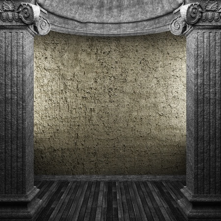 stone columns and wall made in 3D Stock Photo - 8435627