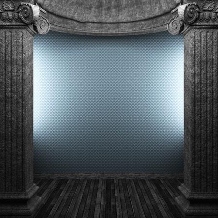 papel tapiz y columnas de piedra  Foto de archivo - 8435732