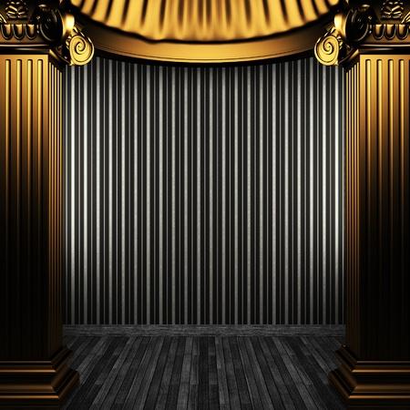 bronze columns and wallpaper Stock Photo - 8455795