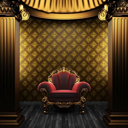 chambre luxe: colonnes de bronze, titulaire de la chaire et de tuiles mur