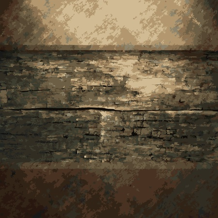 rusty metal: rusty metal and wood plate made in Vector