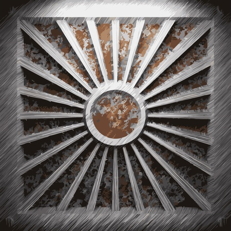 rust: aluminum and rusty metal plate made in Vector