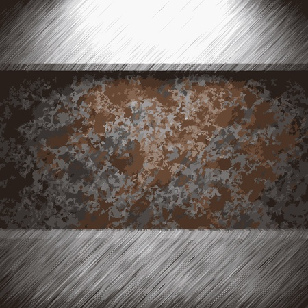 aluminum and rusty metal plate made in Vector Stock Vector - 8591517