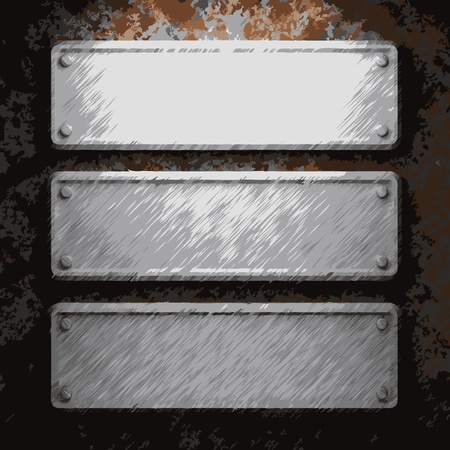 corrugated steel: aluminum and rusty metal plate made in Vector