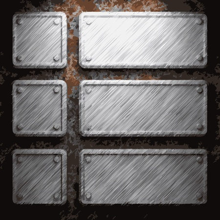 surface covering: aluminum and rusty metal plate made in Vector