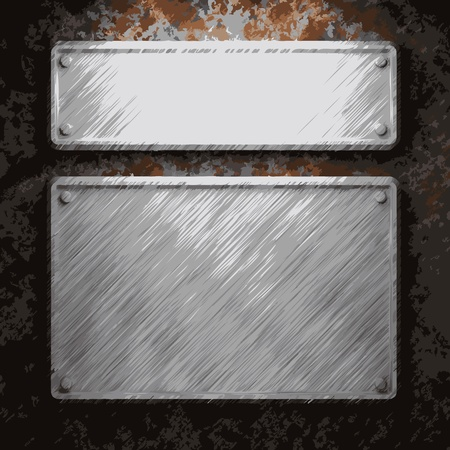 aluminum and rusty metal plate made in Vector Stock Vector - 8591405