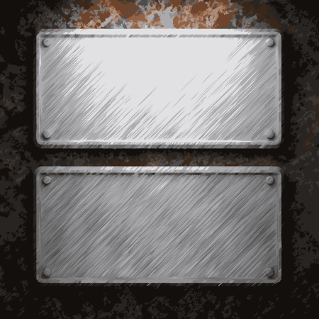 aluminum and rusty metal plate made in Vector Stock Vector - 8591407