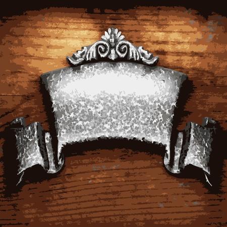 ijzer sieraad op hout gemaakt in Vector