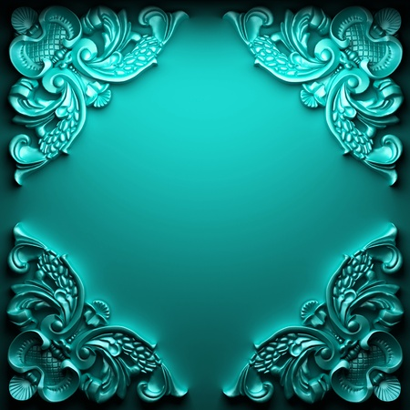 color ornament made in 3D graphics Stock Photo - 9274363