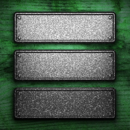 iron plate on wood made in 3D Stock Photo - 9274437