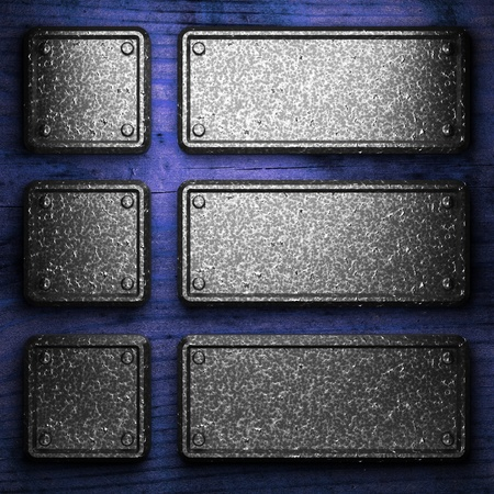 iron plate on wood made in 3D Stock Photo - 9274424
