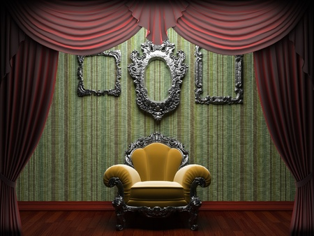 Red velvet curtain opening scene made in 3d Stock Photo - 9356507