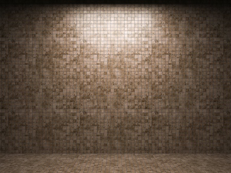 pared iluminada: pared de azulejo iluminada en gr�ficos 3D