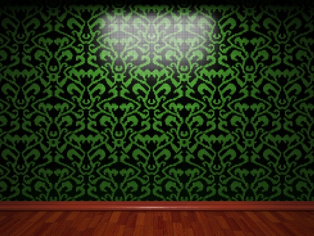illuminated tile wall made in 3D graphics Stock Photo - 9366777