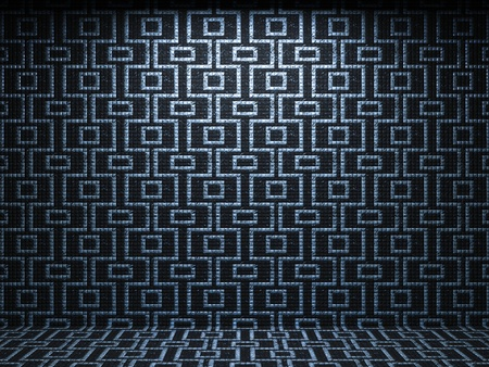 illuminated tile wall made in 3D graphics Stock Photo - 9366810