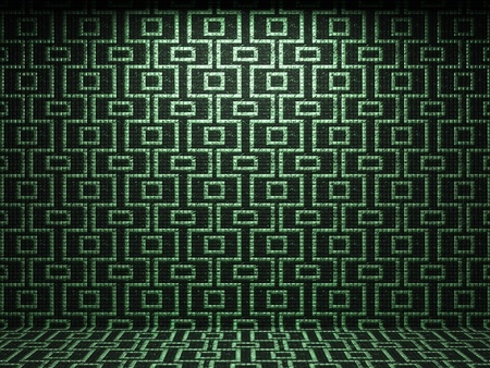 illuminated tile wall made in 3D graphics Stock Photo - 9366811