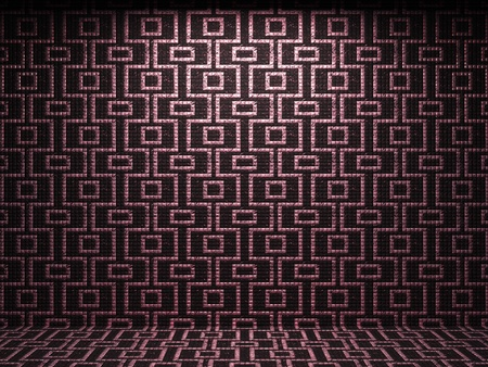 illuminated tile wall made in 3D graphics Stock Photo - 9366808