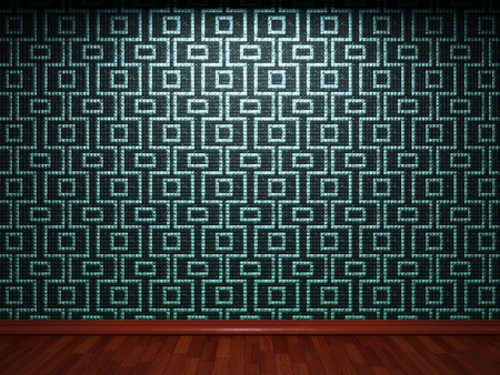 illuminated tile wall made in 3D graphics Stock Photo - 9366813