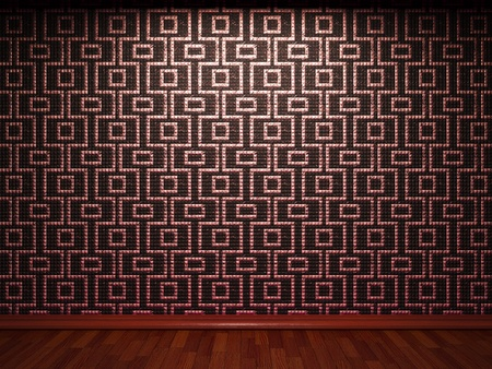 illuminated tile wall made in 3D graphics Stock Photo - 9366815