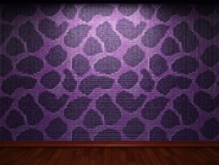illuminated tile wall made in 3D graphics Stock Photo - 9366807